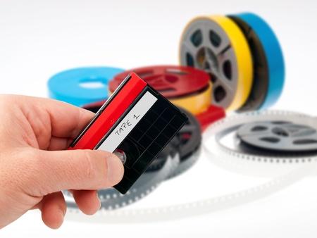 videocassette: cinta de v�deo grabadora de pel�cula