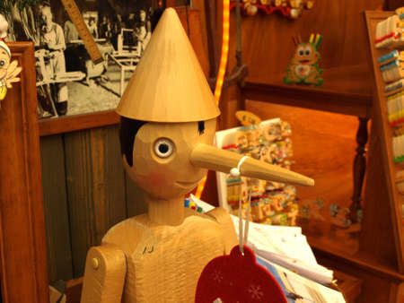 store that sells pinocchio puppets of all sizes Stock Photo - 16463281