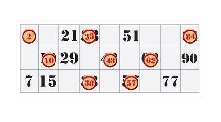 quintet: bingo number vector on white background