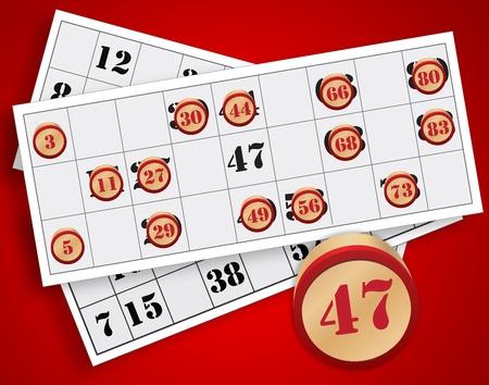 bingo nummer op een witte achtergrond Stockfoto