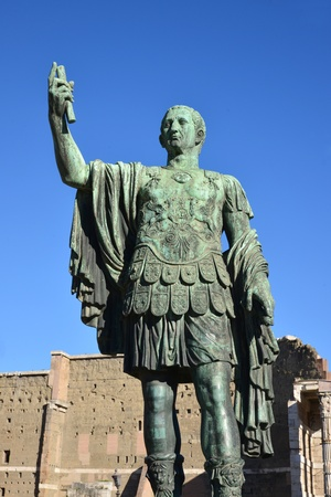 statue of julius caesar emperor of rome