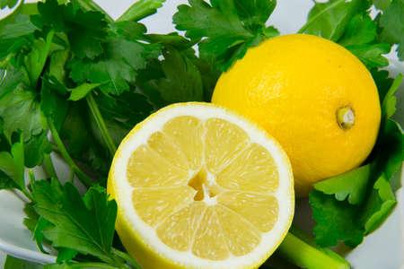 fresh vegetables lemon and parsley Stock Photo - 17878953
