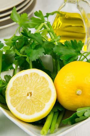 fresh vegetables lemon and parsley Stock Photo - 17878940
