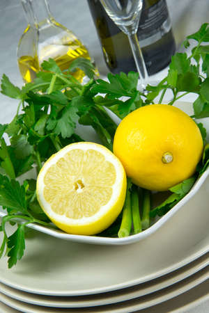 fresh vegetables lemon and parsley Stock Photo - 17878954