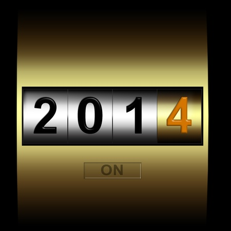 metal counter date new year 2014