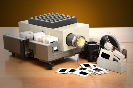 old model of slide projector photo