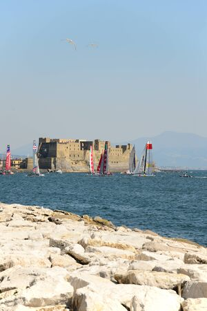 america's cup america: NAPLES, ITALY - APRIL 18: second appointment to Naples for America Editorial