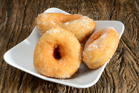 neapolitan: sweet donut fried typical neapolitan food called graffe Stock Photo