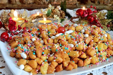 neapolitan: struffoli neapolitan small pastry in Christmas time