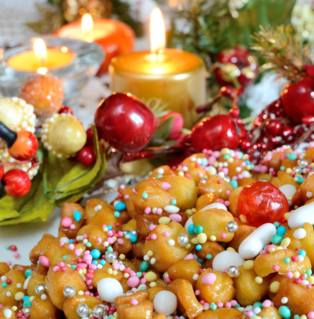 struffoli Napolitaanse klein gebak in de kersttijd