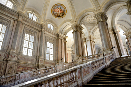 interior of caserta royal  palace constructed by Vanvitelli