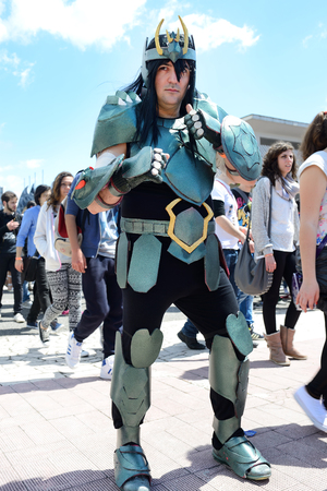 NAPLES, ITALY- MAY 1  for the sixteenth edition of the international cartoon meet all lovers of comics, manga and cosplay phenomenon  Boom up of 20,000 visitors  on  may, 2014 in Naples
