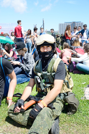 NAPLES, ITALY- MAY 1: for the sixteenth edition of the international cartoon meet all lovers of comics, manga and cosplay phenomenon. Boom up of 20,000 visitors  on  may, 2014 in Naples