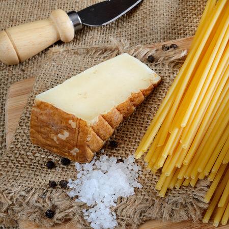 caciocavallo: bucatini italian pasta ingredients for bucatini cacio e pepe
