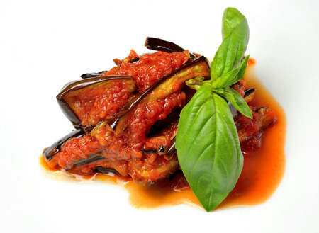 Eggplant cut into strips, fried in olive oil with the addition of tomato. Great pasta sauce