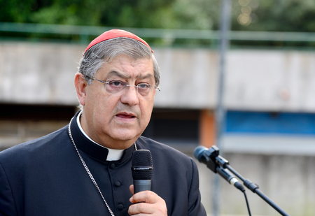 appointed: NAPLES,ITALY JULY,11:Cardinal Sepe  during a religious ceremony. He was appointed Archbishop of Naples on 20 May 2006 by Pope Benedict XVI, after a period in Brazil to Vatican representation on  july 11, 2014 in Naples