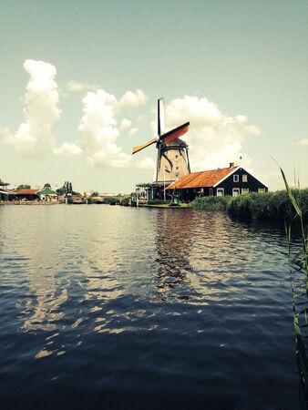 zaanse: Windmolen in Zaanse Schans Amsterdam, Netherland Stockfoto