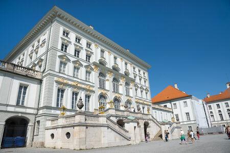 nymphenburg palace: MUNICH - GERMANY- AUGUST 8, 2014: Palace of Nymphenburg Palace Munich, Germany
