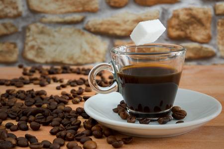 white cup of arabic coffee sugar-free concept photo