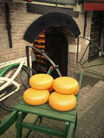 chese: Typical chese store in Amsterdam - The Netherland Stock Photo