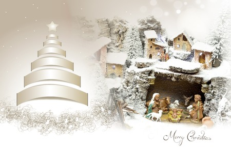 greeting card of Merry Christmas concept