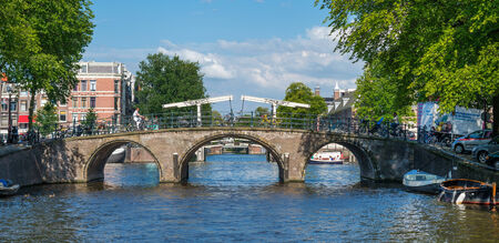 AMSTERDAM, AUGUST 4:The Bridges of Amsterdam  on August 4, 2014 in Amsterdam