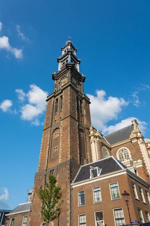 westerkerk: View of tower of Westerkerk church in Amsterdam