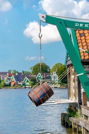 zaanse: Windmolen in Zaanse Schans Amsterdam The Netherland Stockfoto