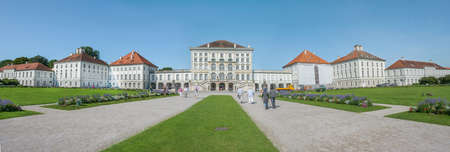 nymphenburg palace: MUNICH - GERMANY- AUGUST 8, 2014: Palace of Nymphenburg on August 8, 2014 in Munich, Germany Editorial
