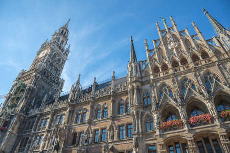 Marienplatz, Town Hall - Rathaus - Munich - Germany 写真素材