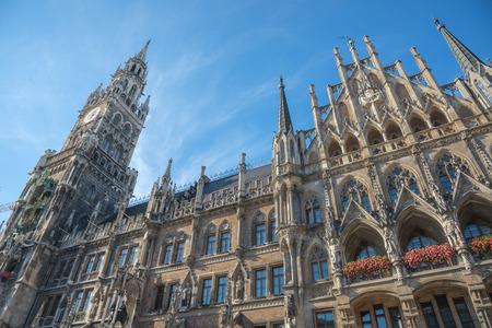 Marienplatz, Town Hall - Rathaus - Munich - Germany Stock Photo