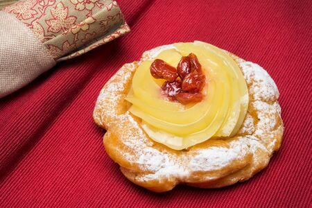 typical neapolitan pastry called zeppola di san giuseppe