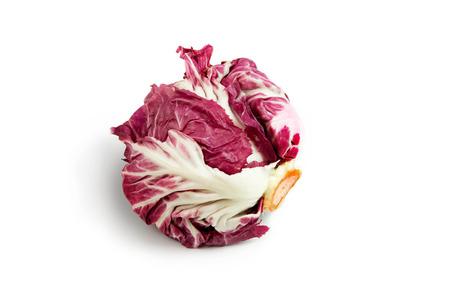 fresh red radicchio isolated on white background photo