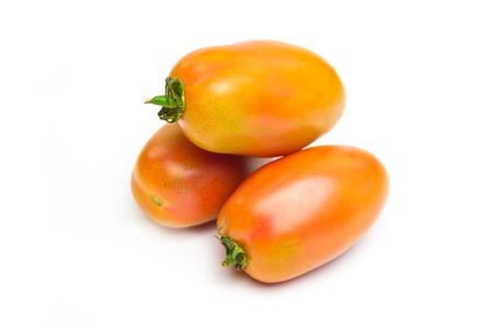 green tomatoes for salad called san marzano
