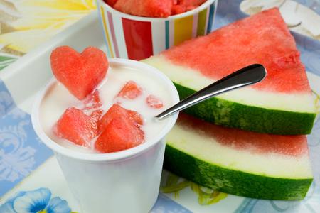 lowfat: low-fat plain yogurt creamy watermelon flavor