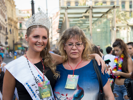 transgression: NAPLES, ITALY- JULY 11:Some participants in the Gay Pride every year brings together thousands of gay people and not to claim the rights to sexual freedom and against homophobia on  july 11, 2015 in Naples