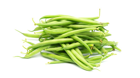 fench: fresh bio fench beans isolated on white background Stock Photo