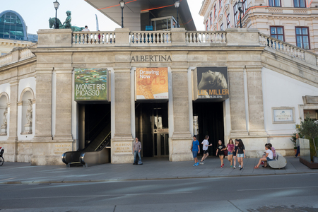 picasso: VIENNA, AUSTRIA - JULY 31, 2015: Albertina Museum during the exhibition of artists Picasso and Monet on  july 31, 2015 in Vienna