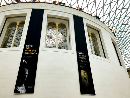 testify: LONDON - UK -DECEMBER 8:The British Museum is home to about eight million objects that testify to the history and culture of mankind.It is in Great Russell Street on december 8, 2015 in London
