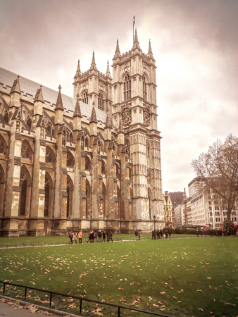 the abbey: The exterior of Westminster Abbey