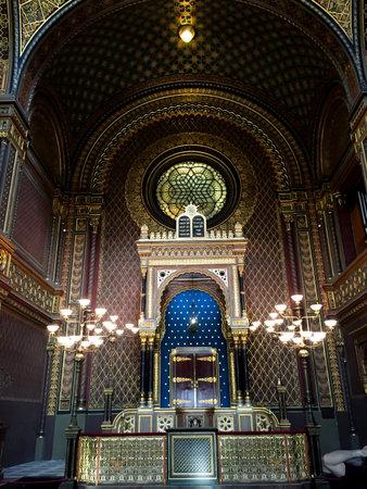 jewish quarter: Interior of Jewish  synagogue - Prague - Czech Editorial