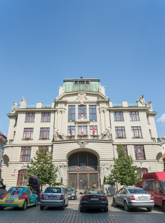 stare mesto: PRAGUE - AUGUST 4: historic and elegant Hotel Nova Radnice in Stare mesto district on august 4,2015 in Prague - Czech