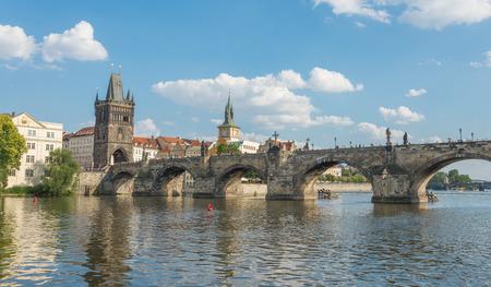 build in: View of Charles Bridge build in 1357 - Prague - Czech Republic