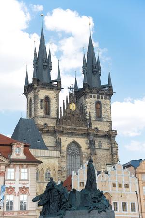 praga: View of The Tyn Church in Prague - Czech Republic