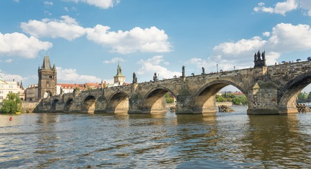 charles bridge: View of Charles Bridge build in 1357 - Prague - Czech Republic