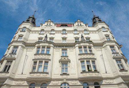 jewish quarter: U Prvni Reduty building, an art nouveau building dating to 1905-1906, Josefov, the Jewish Quarter, Prague, Czech Republic Editorial
