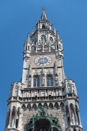 rathaus: Marienplatz, detail of Town Hall Rathaus - Munich - Germany Editorial