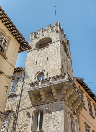 archduke: ASCOLI PICENO, ITALY- AUGUST 25: architectural details of the citys medieval old town on august 25, 2015 in Ascoli - IT Editorial
