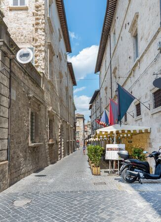 archduke: ASCOLI PICENO, ITALY- AUGUST 25: typical street of the historic city center   on august 25, 2015 in Ascoli - IT