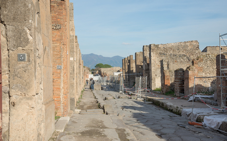 allocated: POMPEI, ITALY- NOVEMBER 13:After numerous collapses, the Ministry of Culture has allocated 2 million Euros for the safety of the archaeological site. Pompeii was declared in 1997  with about 3 million visitors last year on november 13, 2016 in Pompeii - I